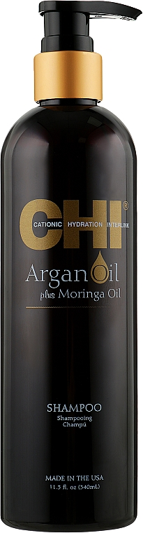 Восстанавливающий шампунь - CHI Argan Oil Plus Moringa Oil Shampoo