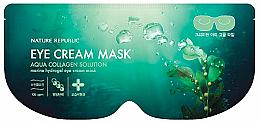 Духи, Парфюмерия, косметика Маска гидрогелевая для глаз - Nature Republic Aqua Collagen Solution Marine Hydrogel Eye Cream Mask