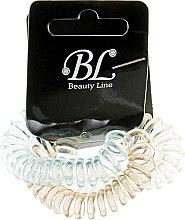 Духи, Парфюмерия, косметика Набор резинок для волос, 405004, прозрачно-желтая+прозрачно-голубая+прозрачно-коричневая - Beauty Line
