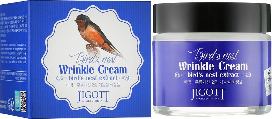 Антивозрастной крем с экстрактом ласточкиного гнезда - Jigott Bird`s Nest Wrinkle Cream