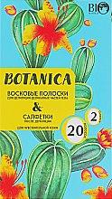 Духи, Парфюмерия, косметика Набор для депиляции чувствительной кожи - Bio World Botanica (полоски/20шт + саше)