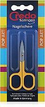 Духи, Парфюмерия, косметика Ногтевые ножницы, изогнутые, 8 см - Credo Solingen Pop Art