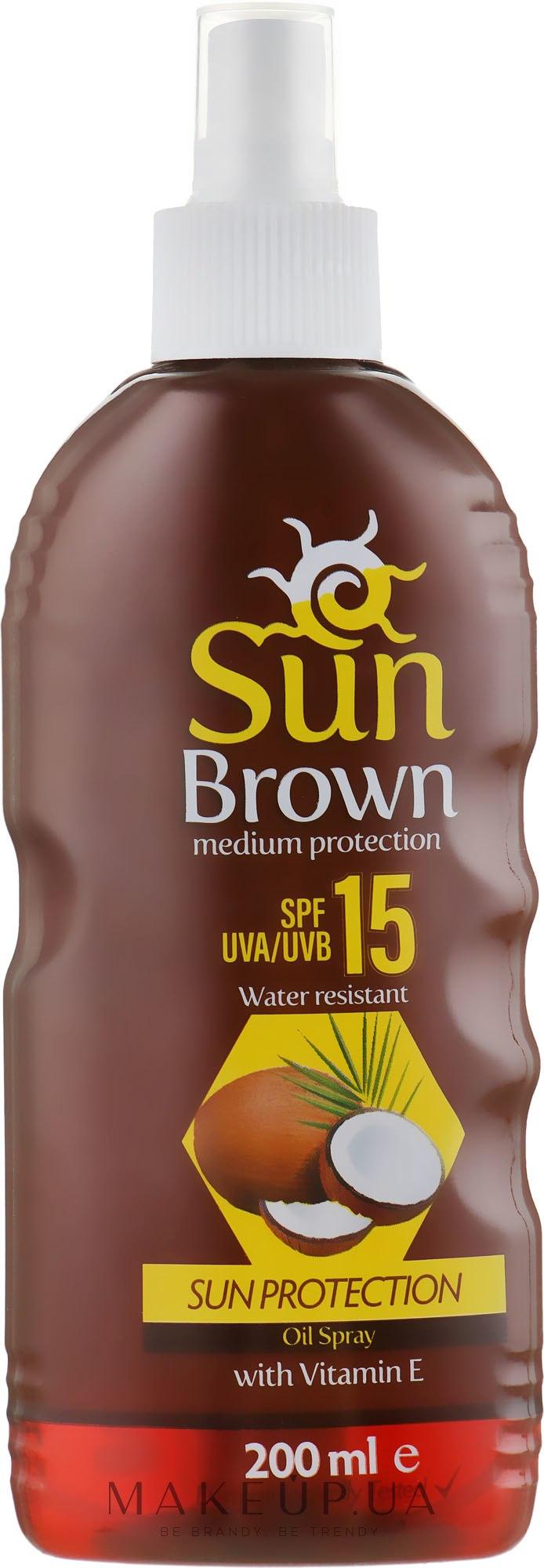 Солнцезащитное масло для усиления загара - Dalan Sun Brown Protection SPF 15 — фото 200ml