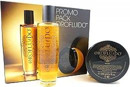 Духи, Парфюмерия, косметика Набор - Orofluido Liquid Gold Promo Pack (elixir/100ml + h/mask/250ml)