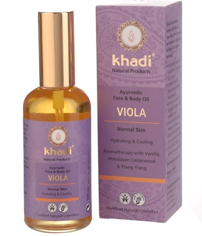 """Масло для лица и тела """"Фиалка"""" - Khadi"""