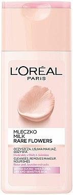 Молочко для снятия макияжа для сухой и чувствительной кожи - L'Oreal Paris Rare Flowers Cleansing Milk Dry and Sensative Skin