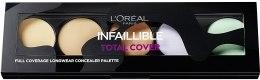 Духи, Парфюмерия, косметика Палетка консилеров для лица - L'Oreal Paris Infaillible Total Cover Concealer Palette