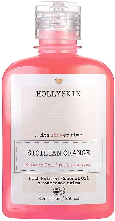 Натуральный гель для душа с ароматом сицилийского апельсина - Hollyskin Sicilian Orange