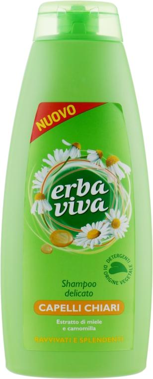Шампунь для тонких волос с экстрактом меда и ромашки - Erba Viva Hair Shampoo