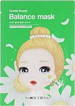 Духи, Парфюмерия, косметика Тканевая маска для лица, уменьшающая воспаления - The Orchid Skin Orchid Flower Balance Mask