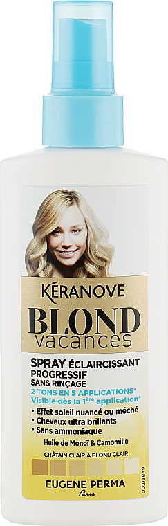 Спрей-тоник для естественного осветления - Eugene Perma Keranove Laboratoires Blond Vacances Highlighting Spray Without Rinse