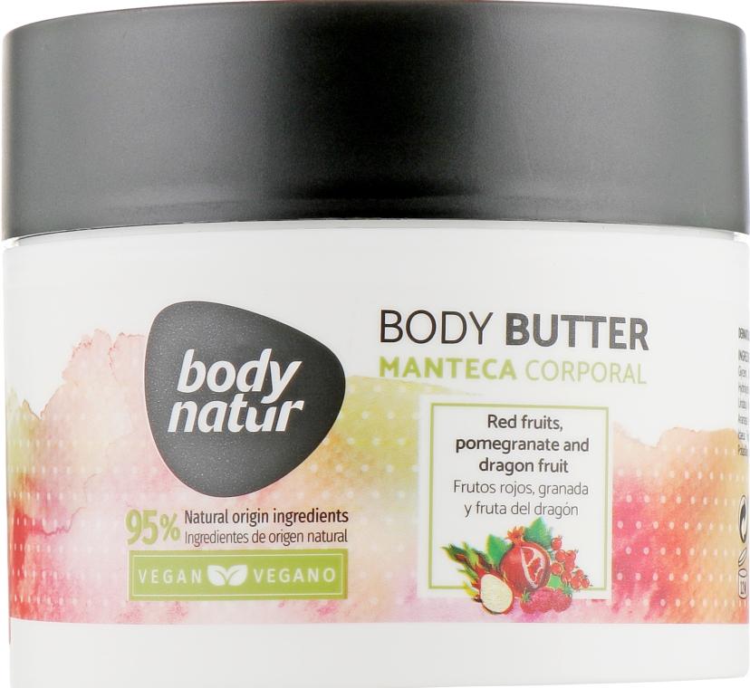 Баттер для тела с лесными ягодами, гранатом и драконьим фруктом - Body Natur Red Fruits, Pomegranate and Dragon Fruit Body Butter