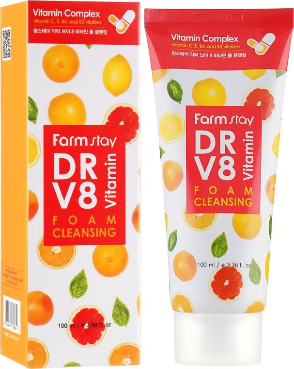 Витаминная пенка для очищения кожи - FarmStay DR.V8 Vitamin Foam Cleansing