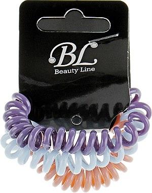 Набор резинок для волос, 405004, васильковая+пудровая+фиолетовая - Beauty Line