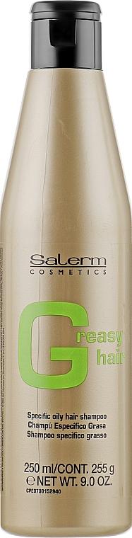 Шампунь для жирной кожи головы - Salerm Linea Oro Shampoo Antigrasa