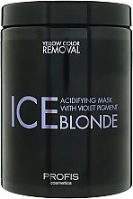 Маска антижелтая для волос - Profis Ice Blonde — фото N1