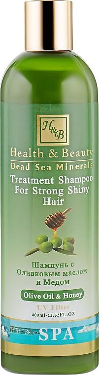 Шампунь для волос с добавлением оливкового масла и меда - Health And Beauty Olive Oil & Honey Shampoo for Strong Shiny Hair