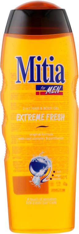"""Мужской шампунь-гель для душа 2 в 1 """"Extreme Fresh"""" - Mitia Hair and Body Gel"""