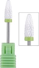 Духи, Парфюмерия, косметика Насадка для фрезера керамическая (С) зеленая Tirch Cylinder - Vizavi Professional