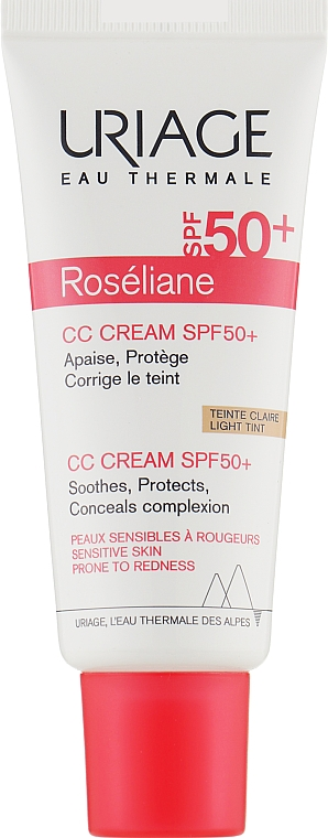 Увлажняющий СС крем для лица против покраснений - Uriage Roseliane CC Cream Moisturizing Cream SPF50+