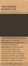 Ефірне масло - Apivita Aromatherapy Organic Rosemary Oil — фото N3