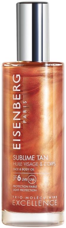 Масло для лица и тела - Jose Eisenberg Sublime Tan Face & Body Oil SPF 6