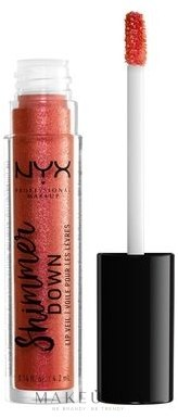 Блеск для губ - NYX Professional Makeup Shimmer Down Lip Veil — фото 01 - Peach of my Heart