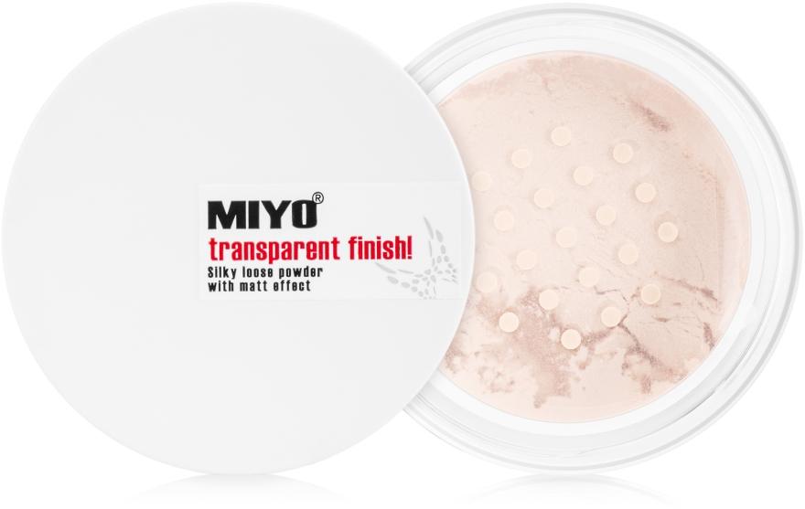 Рассыпчатая пудра - Miyo Transparent Finish Powder