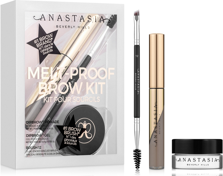 Набор для макияжа бровей - Anastasia Beverly Hills Melt-Proof Brow Kit (brow/pow + brow/gel + brush)