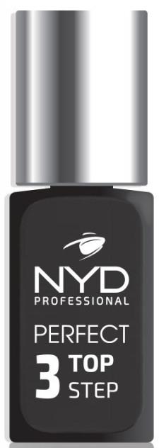 Эластичное финишное покрытие для ногтей - NYD Professional Perfect Top 3 Step