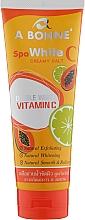 Духи, Парфюмерия, косметика Крем-соль для тела с витамином С - A Bonne Whitening Shower Cream With Lemon And Papaya With Vitamin C