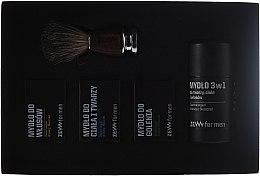 Духи, Парфюмерия, косметика Набор - Zew Barber's Holiday Set (soap/4x85ml + brush)