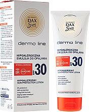 Духи, Парфюмерия, косметика Гипоалергенный лосьон для загара - DAX Sun Dermo Line Body Lotion SPF 30