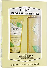 Духи, Парфюмерия, косметика Набор - I Love Signature Hand & Body Duo Elderflower Fizz (h/cr/100ml + b/wash/360ml)