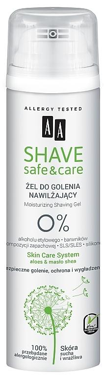Гель для бритья - AA Shave Safe&Care