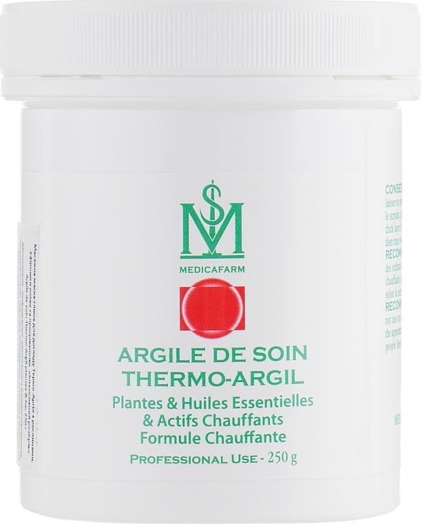 Термо-Аргил маска-глина с растениями, эфирными маслами и прогреванием «Интенсивный разогрев» для тела - Medicafarm Argile De Soin Thermo-Argil Plantes, HE & Actifs Chauffants