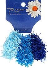 Духи, Парфюмерия, косметика Резинки для волос 3 шт, голубые и синяя, 21695 - Top Choice