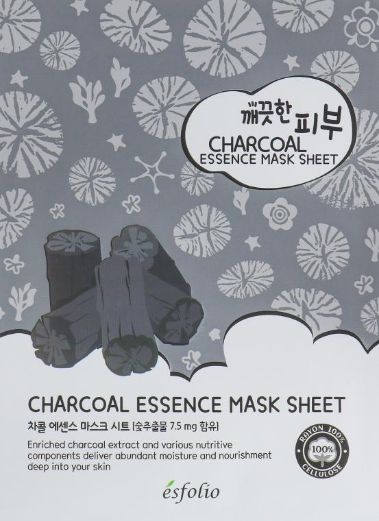 Тканевая маска c углем - Esfolio Pure Skin Essence Charcoal Mask Sheet