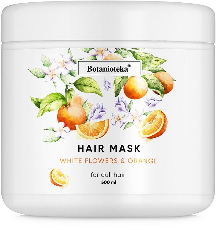 "Маска для тусклых волос ""Апельсин и белые цветы"" - Botanioteka Mask For Dull Hair"