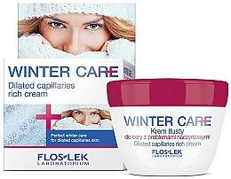 Жирный крем для кожи с проблемами сосудов - Floslek Winter Care Dilated Capillares Rich Cream — фото N1