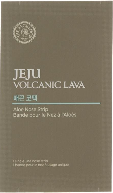 Полоски для носа от черных точек - The Face Shop Jeju Volcanic Lava Aloe Nose Strip