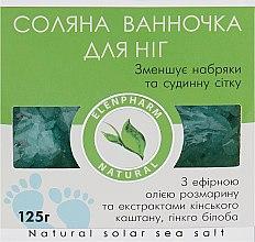 """Парфумерія, косметика Соляна ванночка для ніг """"Elenpharm"""", зменшує набряки та судинну сітку - ElenSee"""