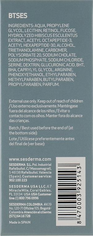 Зволожуюча сиворотка проти зморшок - SesDerma Laboratories BTSeS Anti-wrinkle Moisturizing Serum — фото N3