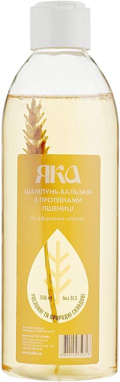 Шампунь-бальзам для восстановления волос с протеинами пшеницы и эфирными маслами - Яка