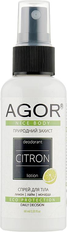 Минерально-травяной дезодорант - Agor Nice Body Citron