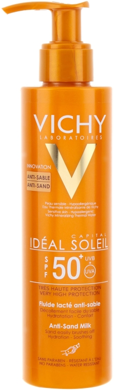 "Молочко-флюид с технологией ""Анти-песок"" - Vichy Ideal Soleil Anti-Sand Milk SPF50"