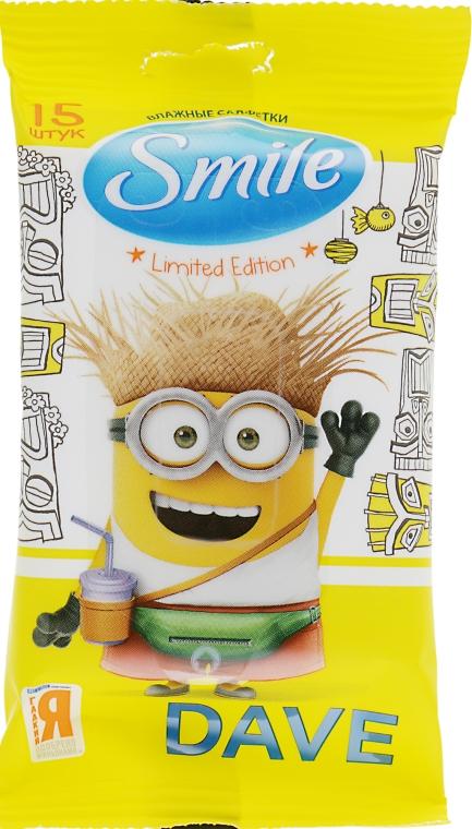 """Влажные салфетки """"Minions"""" 15шт, Dave-2 - Smile Ukraine Baby"""