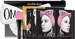 """Духи, Парфюмерия, косметика Набор """"SPA"""" с белым бантом-повязкой - Double Dare OMG! Premium Package (mask/47g+mask/14/7+mask/16/7g+mask/34g+h/band+mask/brush)"""