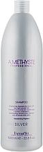 Оживлюючий шампунь для сивого і світлого волосся - Farmavita Amethyste Silver Shampoo — фото N3