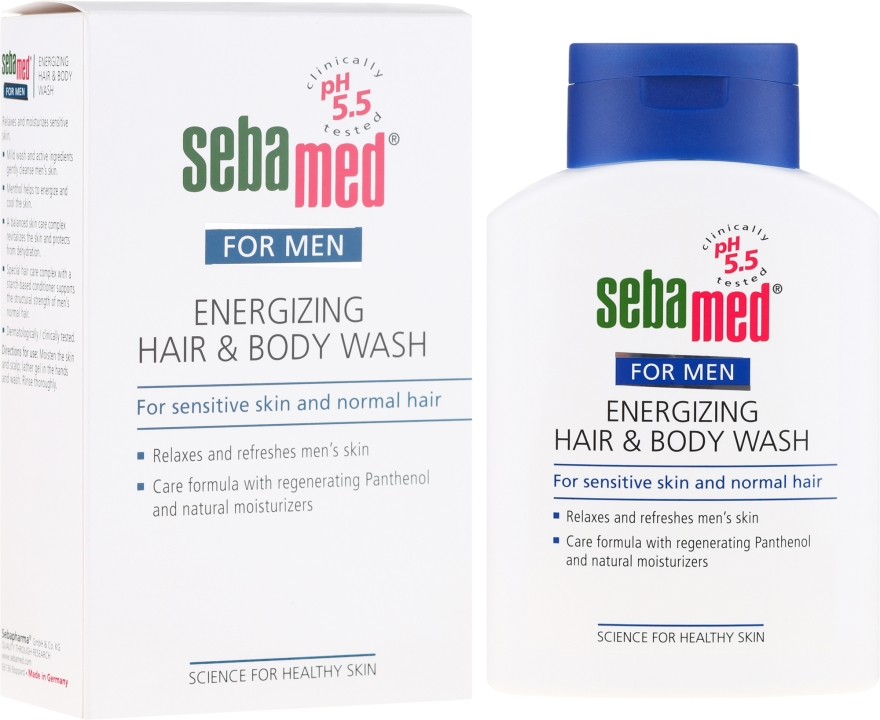 Гель для душа - Sebamed Men Energizing Hair & Body Wash — фото N1